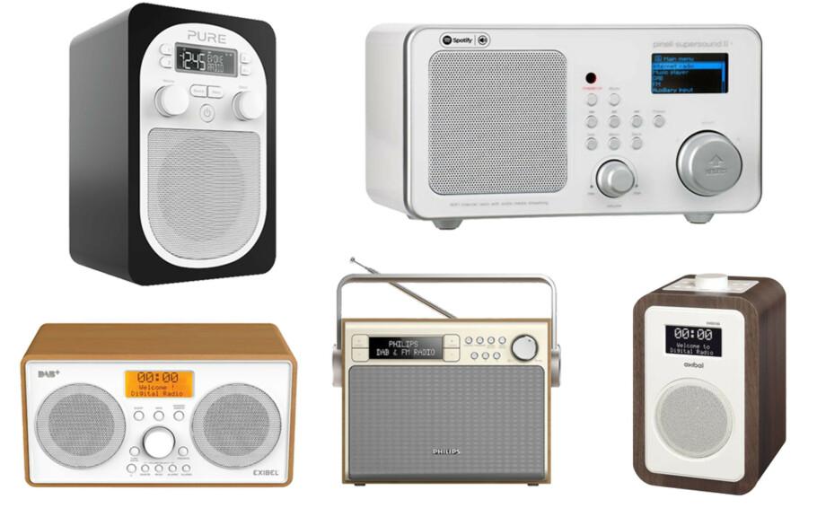NYTTIG MED DAB: DAB-radioene kommer i mange forskjellige varianter.