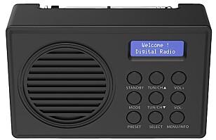 ENKEL: En enkel DAB-radio som passer perfekt på hytta eller på arbeidsrommet.