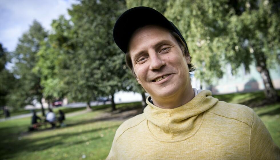 FOKUS PÅ MUSIKK OG FAMILIE: Pål Tøien, kjent under artistnavnet OnklP i Sofienbergparken. Foto: Lars Eivind Bones / Dagbladet