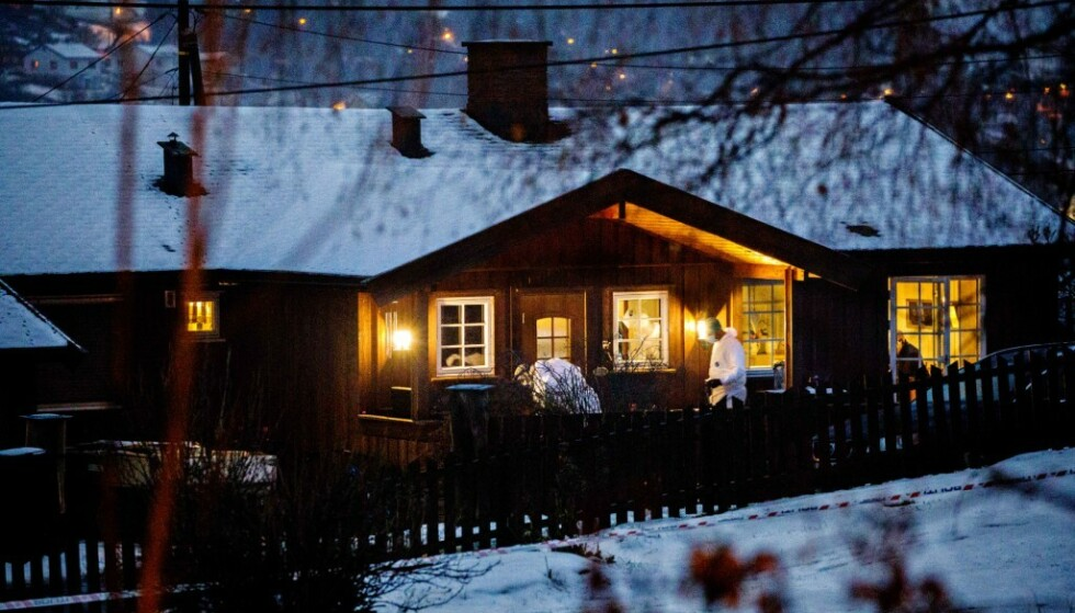 DREPT UTENFOR HJEMMET: Laura Iris Haugen (16) ble knivdrept rett utenfor hjemmet på Sorperoa på Vinstra. Foto: Nina Hansen / Dagbladet