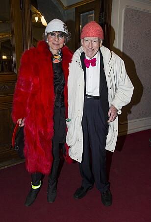 SAMMEN: Her er paret i forbindelse med Toralv Maurstads 90-årsdag. Foto: NTB Scanpix