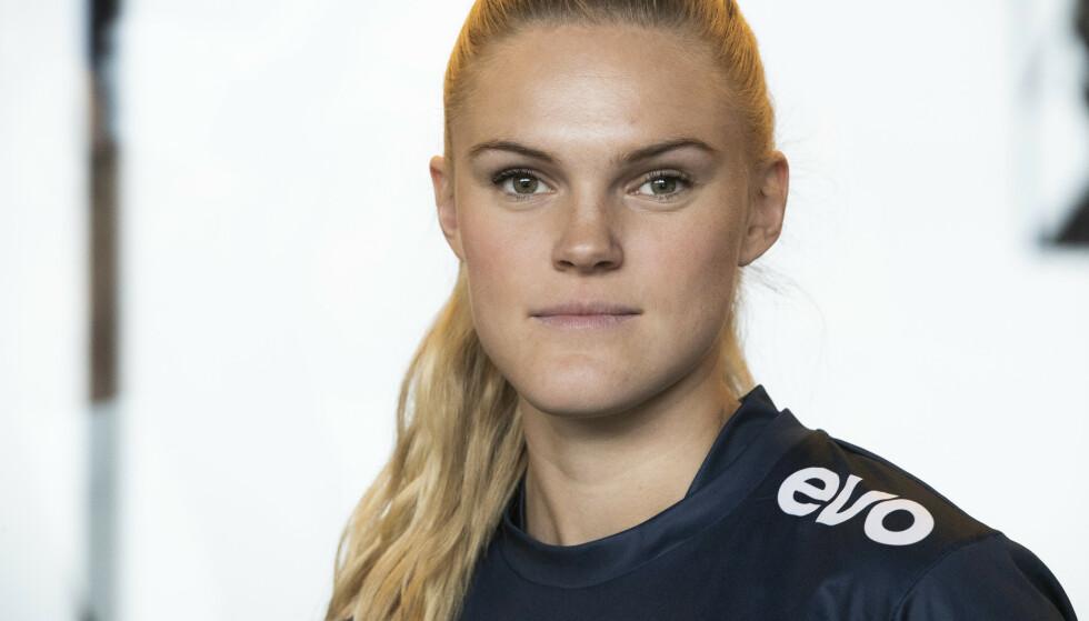 TIL ENGLAND: Kristine Leine. Her fra Kick Off med Toppserien i 2019. Foto: Berit Roald / NTB scanpix