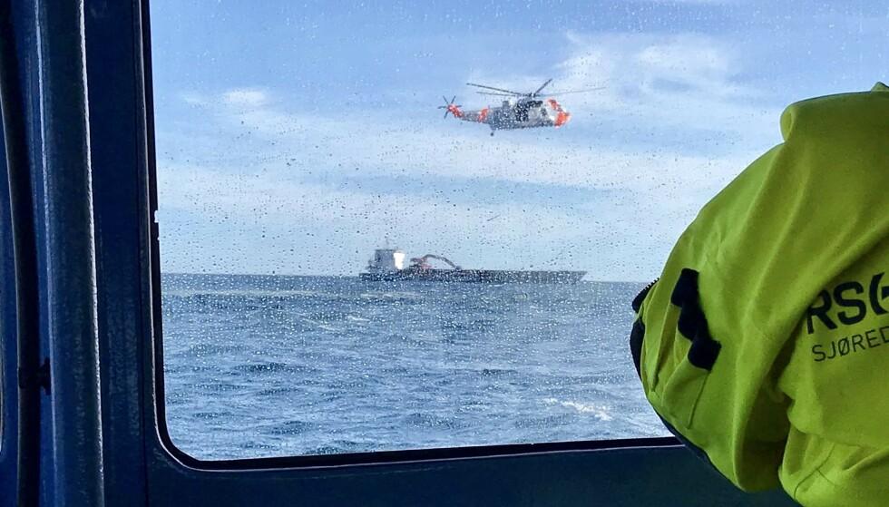 AKSJON: Store ressurser ble sendt ut i forbindelse med redningsaksjonen. Foto: Redningsskøyta