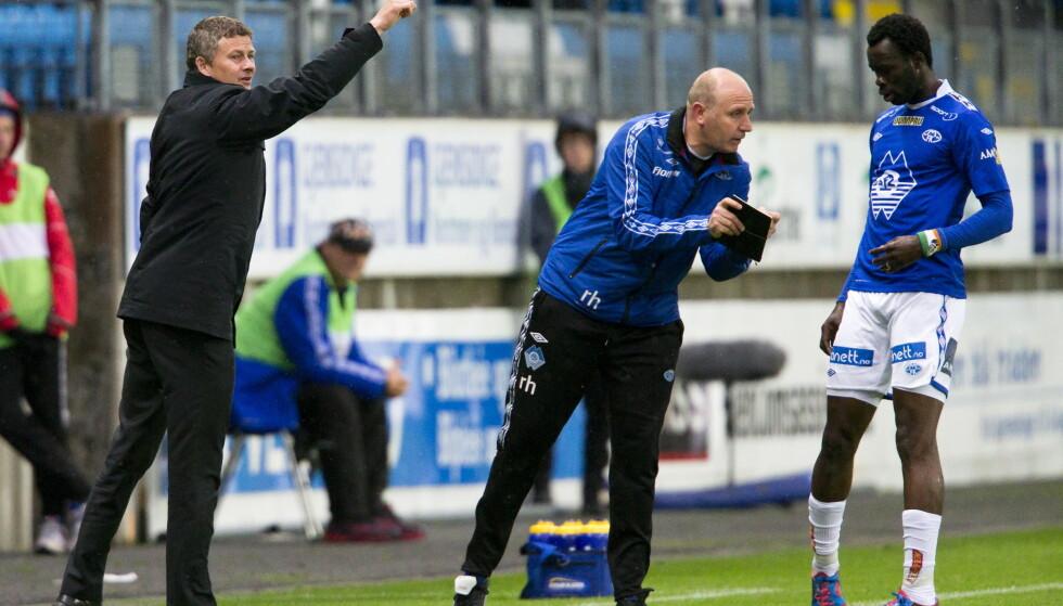 MED TIL MANCHESTER: I Ole Gunnar Solskjærs første periode i MFK var Richard Hartis keepertrener. Foto: NTB/Scanpix