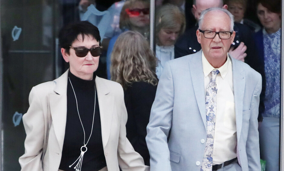 I RETTEN Anas foreldre, Patric og Geraldine Kriégel forlater retten i Dublin. Foto: Niall Carson / Pa Photos