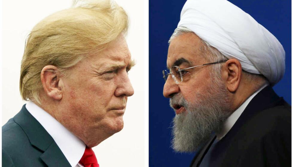 «TILBAKESTÅENDE»: Irans president Hassan Rouhani går knallhardt ut mot Donald Trumps Hvite hus etter de siste amerikanske sanksjonene mot Iran. Foto: AP Photo / NTB Scanpix