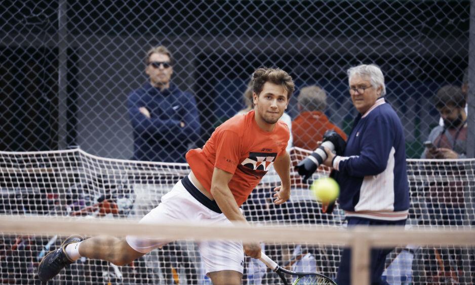 MØTER ISNER: Casper Ruud møter John Isner i 1. runde i Wimbledon. Foto: Frank Karlsen