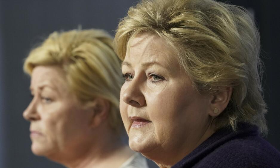 MÅ LEVERE: Statsminister Erna Solberg må sørge for at Frp-grasrota blir tilfredsstilt - samtidig som Venstre og KrF beholder gjennomslag i sine hjertesaker. Foto: Cornelius Poppe / NTB scanpix