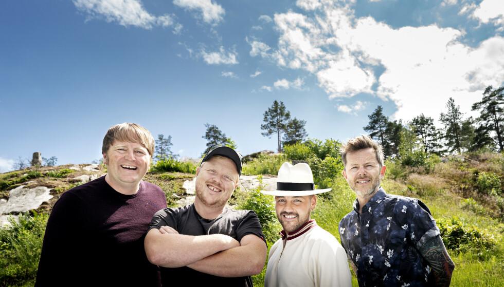 RIR IGJEN: (Fra venstre) Askil Holm, Kurt Nilsen, Alejandro Fuentes og Espen Lind har sommeren fullpakka av konserter. Lind tror at den usannsynlige kjemien mellom de fire artistene appellerer til publikum. - Når vi kommer sammen, har vi det genuint artig på scenen, sier 48-åringen. Foto: John T. Pedersen / Dagbladet