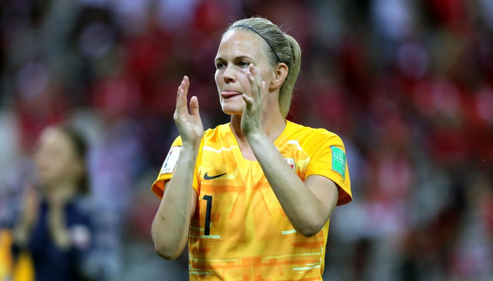 LEGGER OPP: Ingrid Hjelmseth har spilt sitt siste mesterskap med Norge før hun gir seg på landslaget. Foto: NTB Scanpix