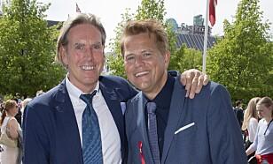 SAMBOERE: Robert Stoltenberg og kjæresten Christian Grønvold som jobber som art director i Dagbladet Magasinet. FOTO: TORE SKAAR.