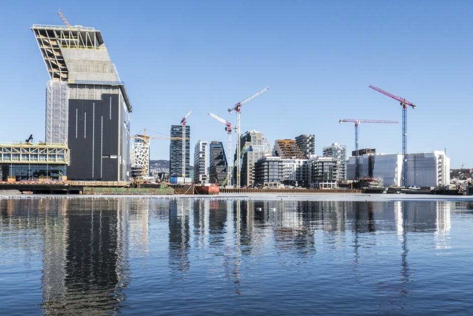 DEN NYE FJORDBYEN: Oslo er under radikal forandring. Foto: NTB Scanpix
