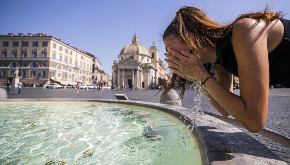 REKORD: Ny varmerekord er satt i Frankrike med 44,3 grader, melder landets meteorologiske institutt. Dermed er den gamle rekorden på 44,1 grader slått.  Foto: NTB Scanpix