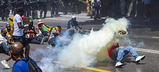 Brukte tåregass mot demonstranter i Genève