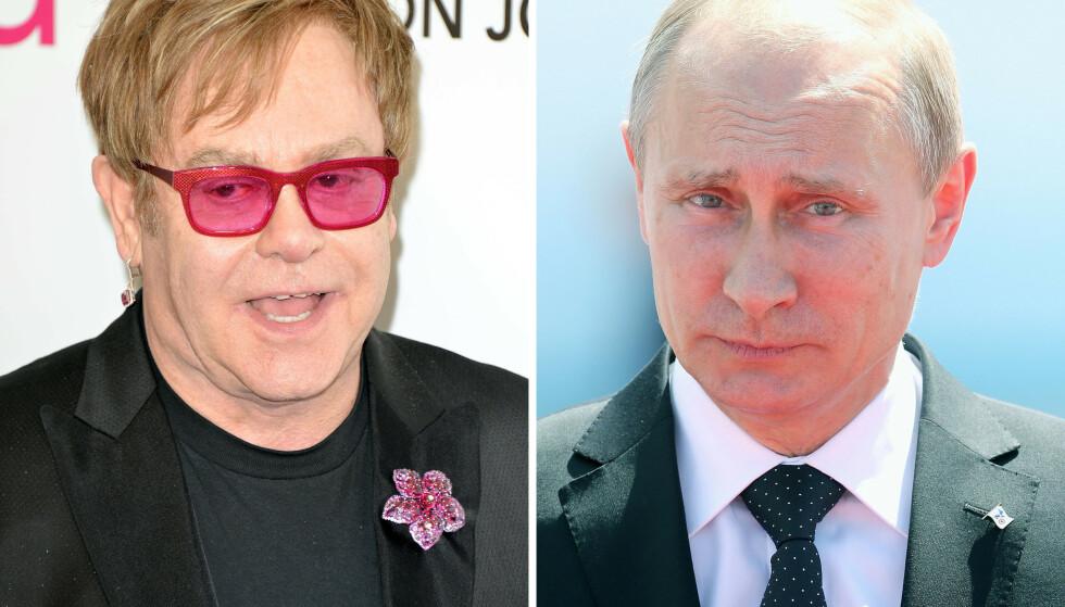 ORDKRIG: Elton John er lite fornøyd med Vladimir Putins uttalelser. Foto: NTB Scanpix