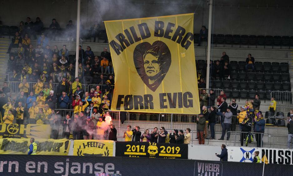 HYLLET: Slik så tribunen ut under kampen mellom Bodø/Glimt og Odd Grenland. Foto: Fredrik Hagen / NTB scanpix