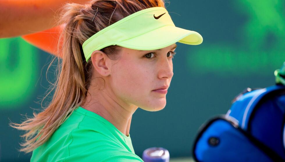 UT MOT KRITIKERNE: Tennisstjerna Eugenie Bouchard. Foto: Mario Houben/CSM/REX