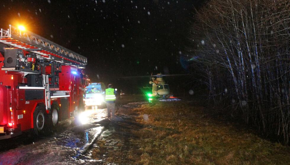 KOLLIDERTE: Ulykken skjedde lille julaften 2017 på Fursetfjellet mellom Molde og Kristiansund. Foto: Raymond Brunvold / NTB scanpix