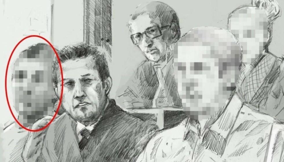 I RETTEN: Skuespilleren ble i 2013 dømt i den såkalte sexfelle-saken, sammen med en annen mann og to kvinner. Illustrasjon: Fedor Sapegin / Dagbladet
