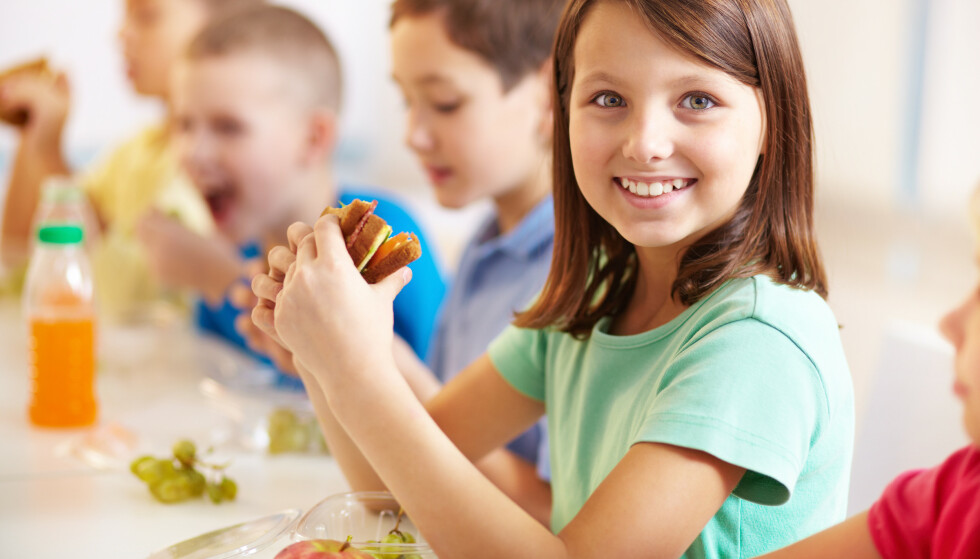 VIKTIG FOR KROPP OG SINN: Skolemat er viktig for god ernæring, det bidrar til læring i et sosialt fellesskap og gir kroppen energi til å ta imot undervisningen, skriver artikkelforfatteren. Foto: NTB scanpix