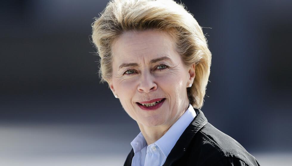 PRESIDENT: Stats- og regjeringssjefene i EUs medlemsland har nominert tyske Ursula von der Leyen (60) til posten som ny president for EU-kommisjonen de kommende fem årene.Foto: Markus Schreiber/AP/NTB Scanpix
