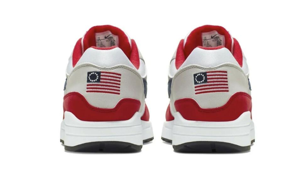 KRITISERES: Nike har mottatt kritikk for å ha lansert en ny versjon av den populære modellen Air Max 1. Nå møter de kritikk for å trukket skoene fra markedet. Foto: NTB Scanpix