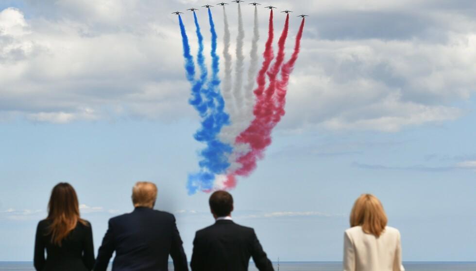 <strong>Smart:</strong> Den franske presidenten lykkes med strategien under G7-toppmøtet. Her er han med Melania Trump (f.v), president Donald Trump, og sin egen kone, Brigitte Macron (t.h) Foto: Mandel Ngan / AFP / NTB Scanpix