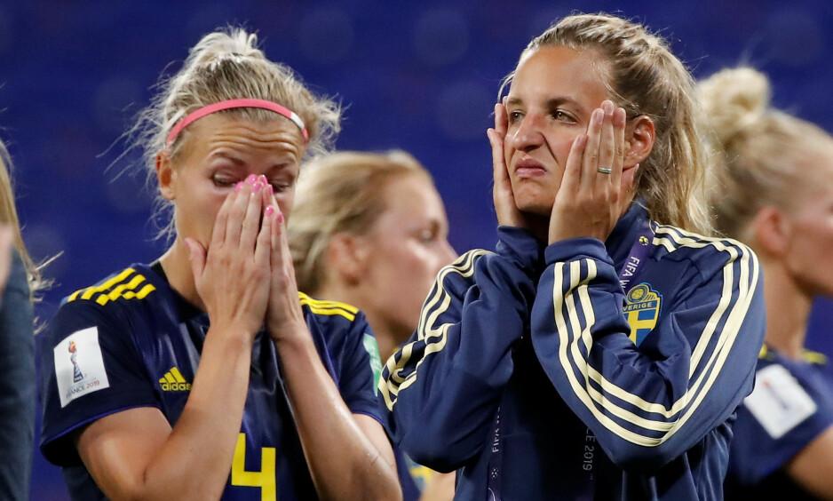 UTE: Sverige måtte gi tapt i ekstraomganger mot Nederland. Foto: REUTERS / Benoit Tessier / NTB Scanpix