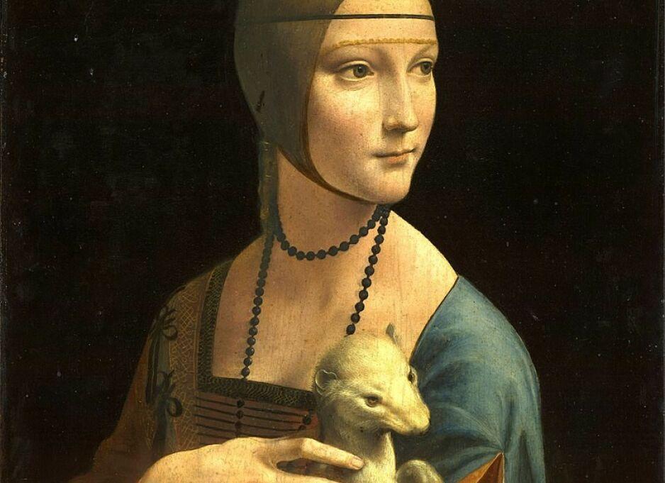 DAMEN MED RØYSKATTEN: Hvilke tanker går gjennom Cecilias hode når hun ser på sin elsker? Se, og du får hundre svar, skriver forfatter Walter Isaacson om sitt favorittmaleri.