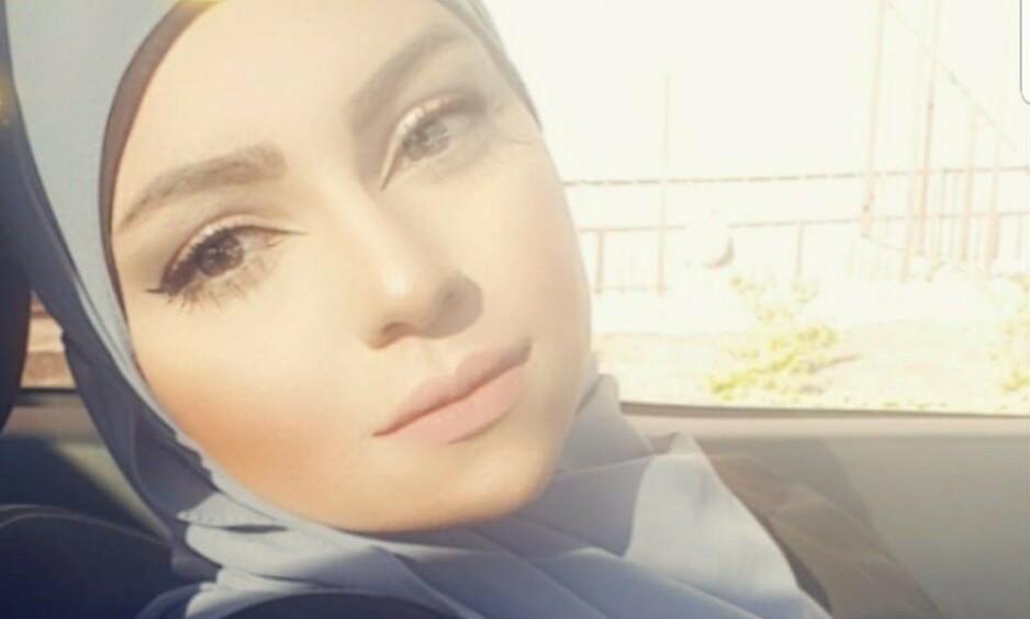 SPYTTA PÅ: Alnajjar forteller at det gjør henne redd og sint at mennesker i et åpent samfunn ser ned på hverandre. Foto: Privat