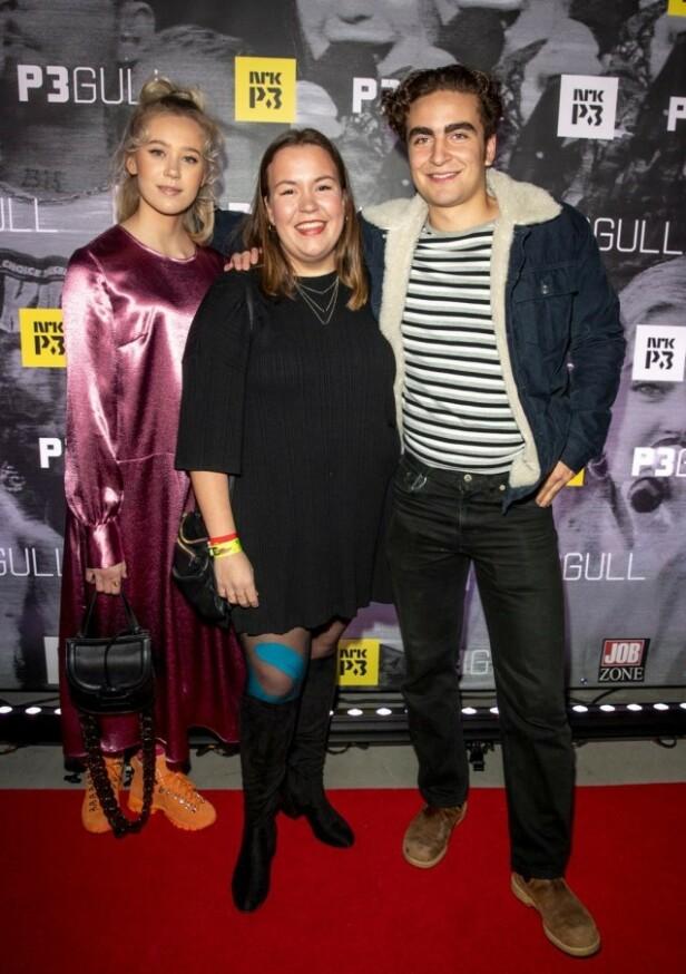GODE VENNER: Her er Josefine Frida Pettersen, Ida Svenningdal og Marlon Langeland under P3 Gull i november 2018. Foto: Andreas Fadum / Se og Hør