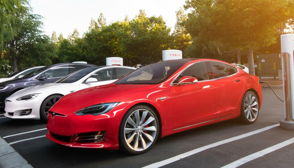 TESLA: Tesla er med. Men det er noen helt andre som gir flest kilometer for pengene.. Foto: Produsenten