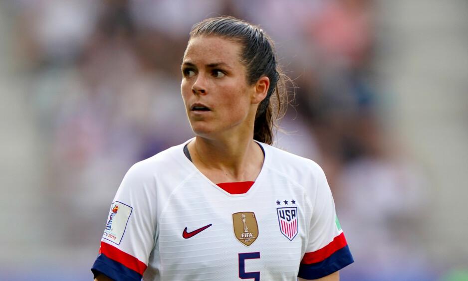 BEKREFTET KJÆRESTE: Ifølge flere amerikanske aviser bekreftet Kelley O'Hara at hun er i et forhold etter VM-finalen. Foto: NTB Scanpix