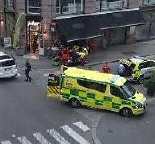 UKLART SKADEOMFANG: Mannen er fraktet til ykehus med uavklart skadeomfang. Foto: Ruth Karin Kjelstad