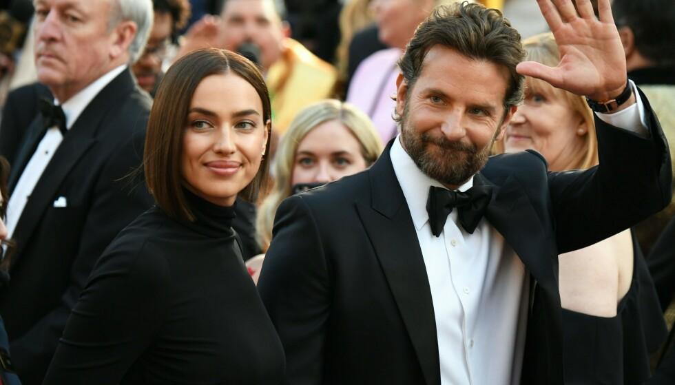 STJERNEPAR: Supermodell Irina Shayk (33) og Hollywood-skuespiller Bradley Cooper (44) har angivelig gått hver til sitt. Nå gir førstnevnte sitt første intervju etter spekuasjonsstormen. Foto: NTB Scanpix