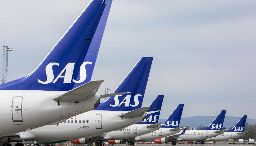 ERSTATNINGSKRAV: SAS vil rette et erstatningskrav mot en kvinne som åpnet en flydør før avgang fra ferieøya Zakynthos. Foto: Ole Berg-Rusten / NTB Scanpix