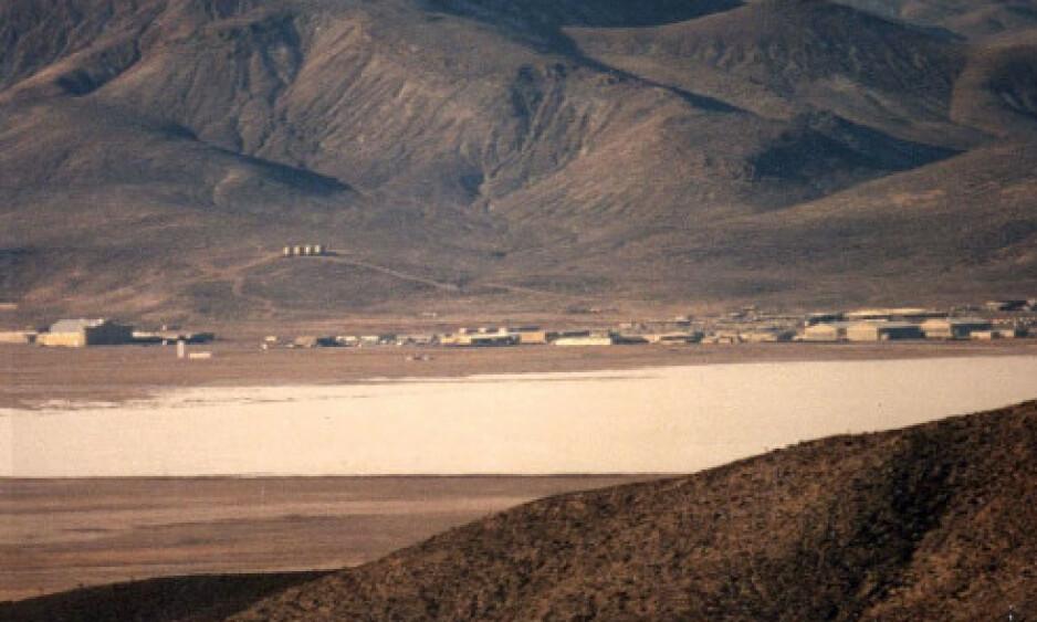 HEMMELIG: Area 51 i Nevada har vært tema for både diskusjoner og konspirasjonsteorier i flere tiår. Foto: Rex Shutterstock / NTB Scanpix