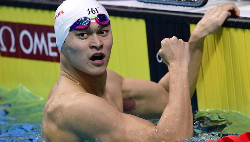 KONTROVERSIELL: Sun Yang har blitt en upopulær mann i svømmemiljøet. Foto: AFP PHOTO / Martin BUREAU