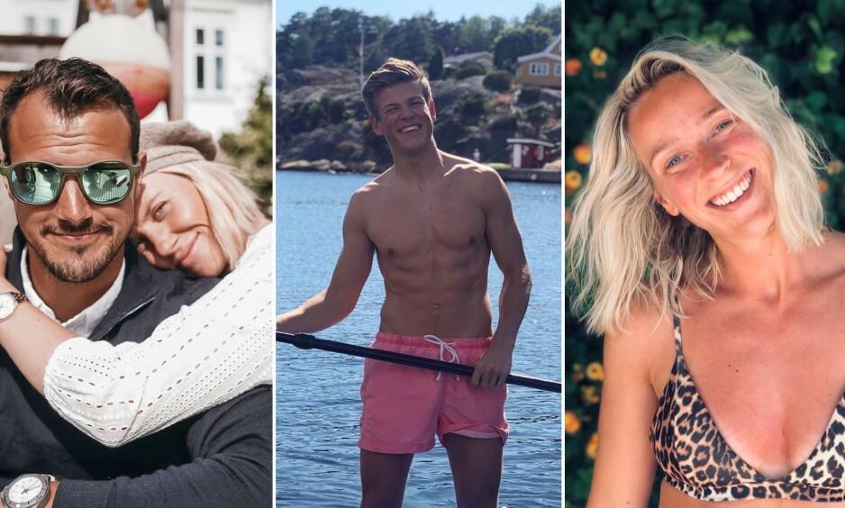 FERIE: Tiril Sjåstad Christiansen, Johannes Høsflot Klæbo og Katarina Flatland er bare noen av de norske kjendisene som nyter late sommerdager. Foto: Instagram