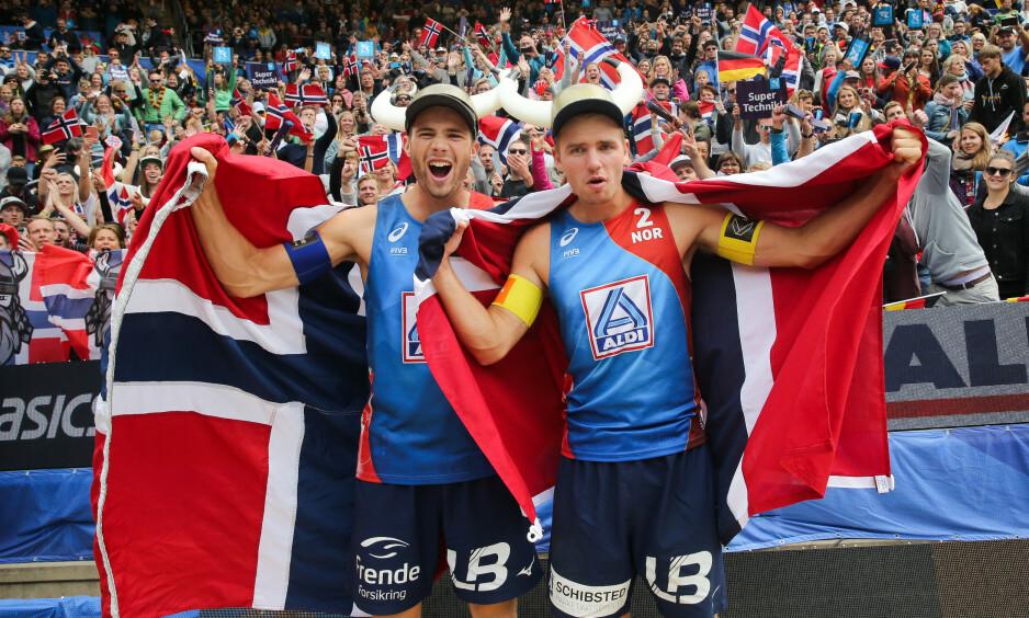 HISTORISKE: Anders Mol og Christian Sørum slutter ikke å imponere. Foto: Christian Charisius /DPA / NTB scanpix
