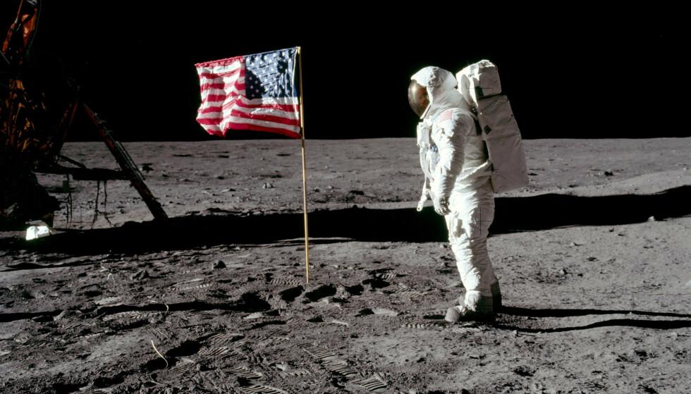 50 ÅR SIDEN: I dag er det nøyaktig femti år siden menneskene for første gang satte sine føtter på en annen klode - månen. Foto: NASA