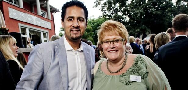 BLE BAKSNAKKET: Venstre-politiker Abid Raja overhørte partikollega Trine Skei Grande baksnakke ham. Foto: Thomas Rasmus Skaug / Dagbladet