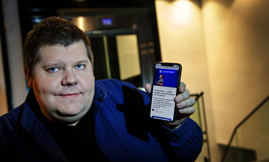 ENGASJERER: Jon Henrik Larsens kamp om å få beholde sin brukerstyrte personlige assistent har nådd Stortinget. Foto: Anders Grønneberg / Dagbladet