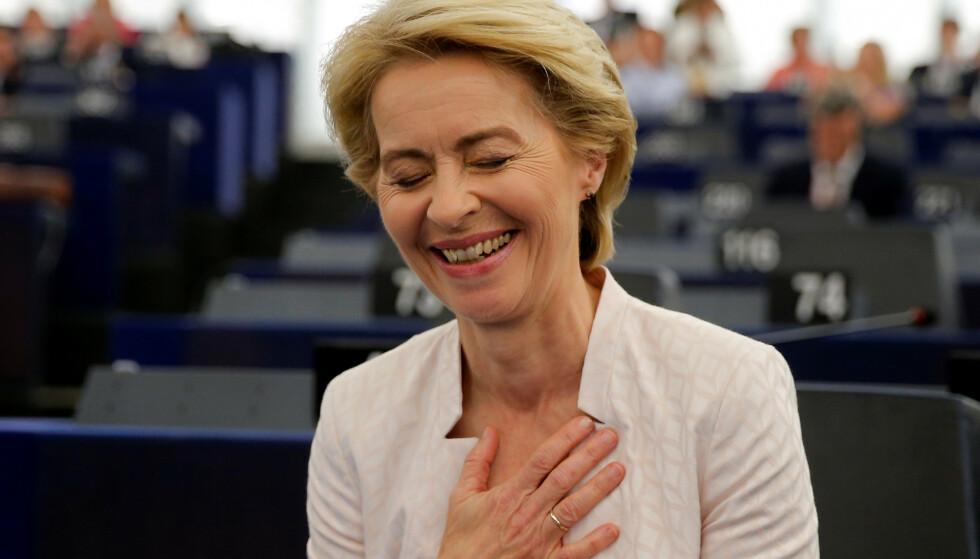 VALGT: Ursula von der Leyen blir den første kvinnelige presidenten i EU-kommisjonen. Foto: Vincent Kessler / REUTERS / NTB Scanpix