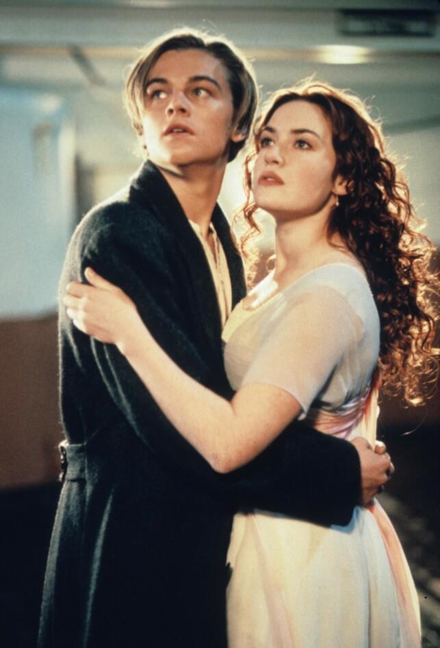 GJENNOMBRUDDET: Leonardo DiCaprio ble superstjerne over natta da han medvirket i rollen som Jack Dawson. Her sammen med Kate Winslet. Foto: NTB Scanpix