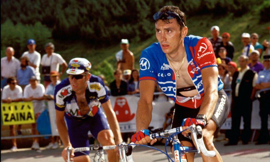 DØDE: Fabio Casartelli er en av fire som har mistet livet under Tour de France. Han omkom etter krasj i 1995. Foto: John Pierce / Photosport / REX / NTB Scanpix