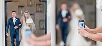 Raser mot bryllupsgjest: Ødela det viktigste øyeblikket å forevige