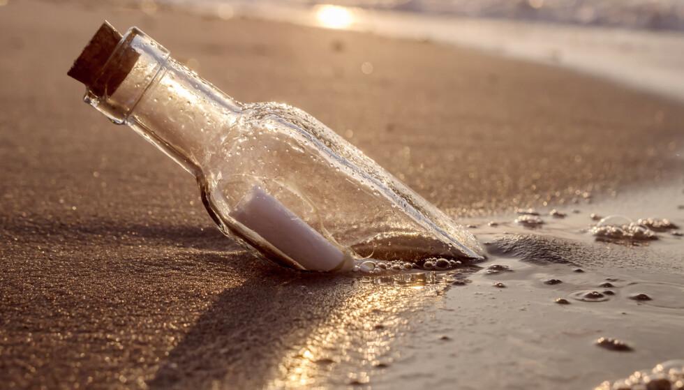 JEG FANT, JEG FANT: Brevet som Jyah Elliott (9) og faren fant på stranda, er datert 17.november 1969. Illustrasjonsfoto: Shutterstock / NTB Scanpix