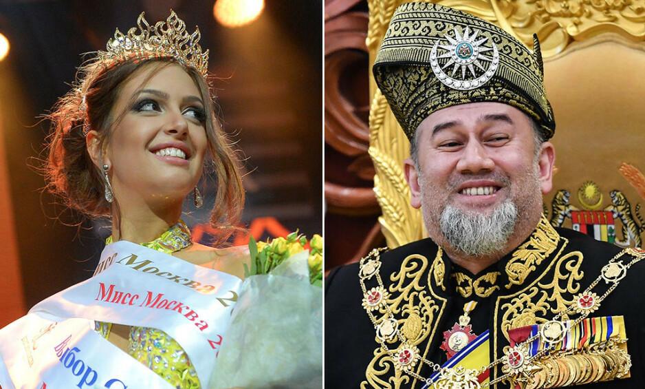 RYKTEFLOM: Det var en trolig en rykteflom som sørget for at sultan Muhammad V måtte forlate tronen i januar. Nå skal en ny rykteflom ha det til at det er slutt mellom han og hans russiske kone. Foto: NTB scanpix