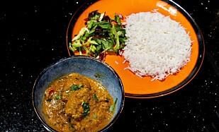 <strong>HOVEDRETTEN:</strong> En indisk klassiker, chicken tikka masala.